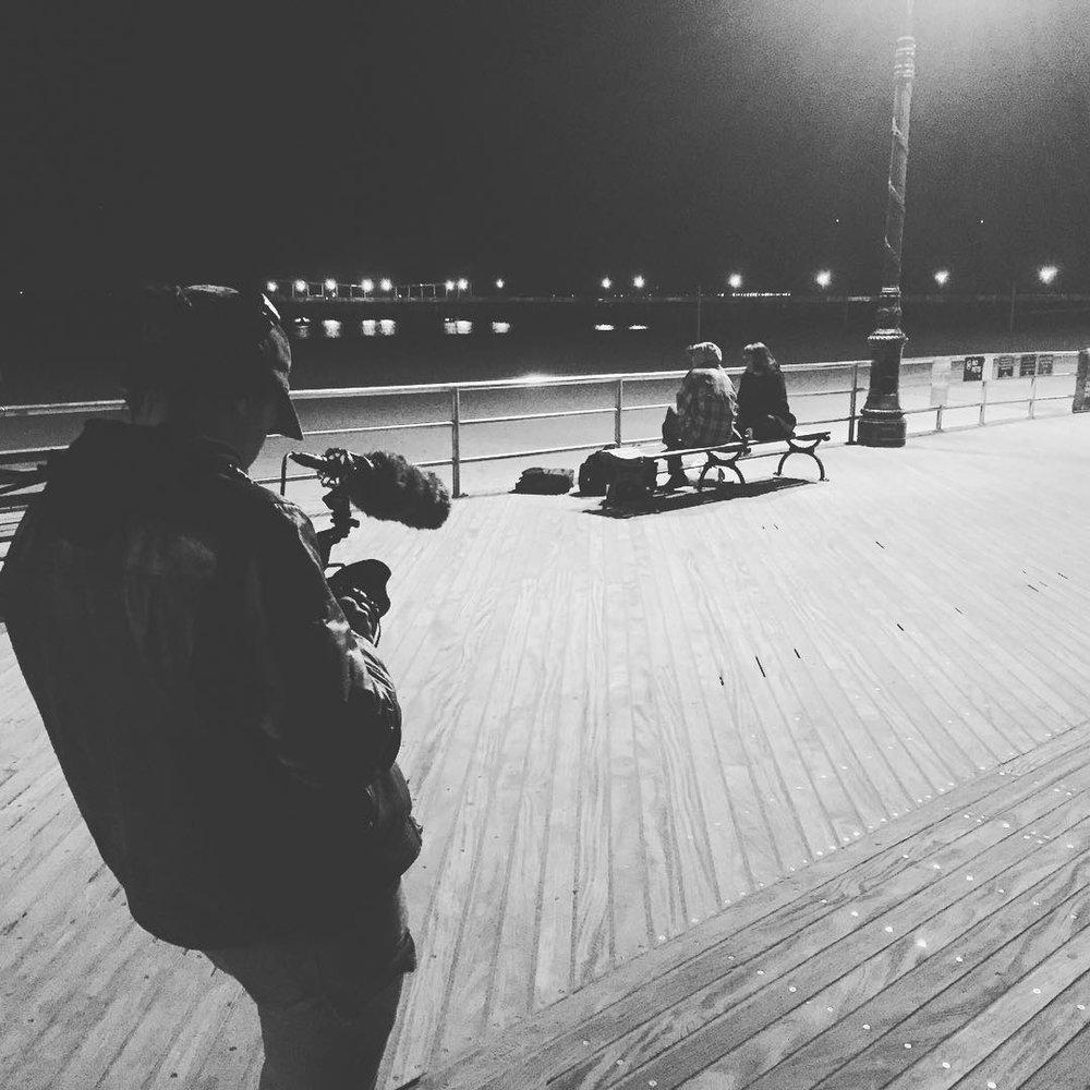Shooting  Life or Death, Basically  on Coney Island, 2016.