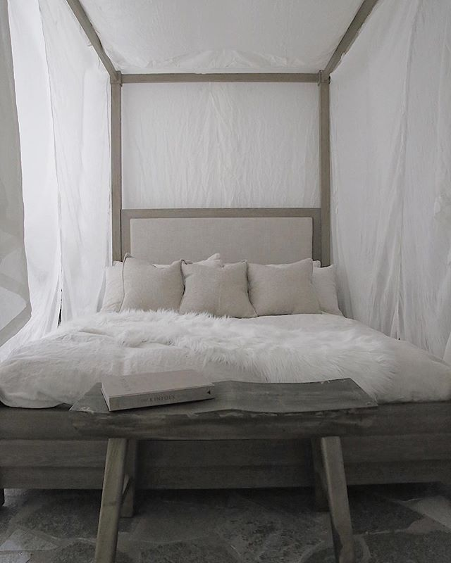 Canopy bedroom at #thebrexley ———————————————————————— #vacationrental #vrbo #airbnb