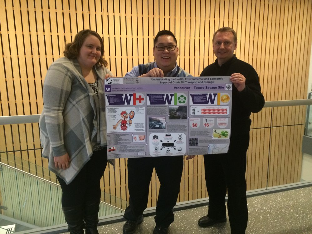 Nursing Student Research Project - A group of student nurses in WA assessed the potential health, environmental and economic impacts of the Tesoro Savage oil terminal proposed in Vancouver, WA. Their poster is available for online viewing.