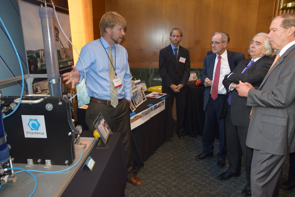 PFO technology was showcased at the White House in 2016.  In the picture above Dr. Wilson from INL is briefing the Energy Secretary Moniz about the benefits of PFO technology.