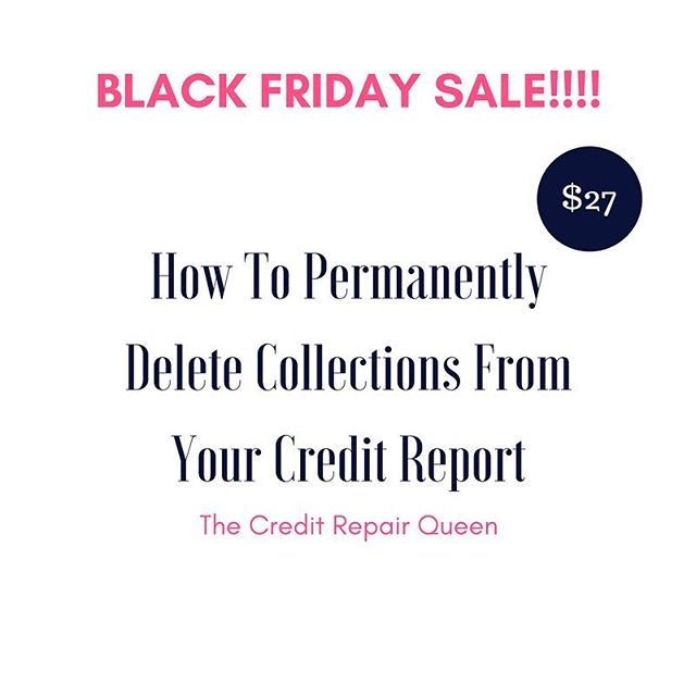 [CLICK THE LINK IN THE BIO] Black Friday Sale - How To Permanently Delete Collections From Your Credit Report ($197 Value) Are you sick and tired of seeing collections ruin your credit? This MasterClass teaches you how to permanently delete collections from your credit report so that you can start to see improvement in your credit scores and get qualified for mortgage loans, car loans, refinance all with low interest rates.  You Will Learn: * 6 Simple Steps to Permanently Delete Collections From Your Credit Report *  #1 Tactic to Prevent Collections From Reappearing on Your Credit Report * 3 Sample Dispute Letters To Get The Job Done Effectively