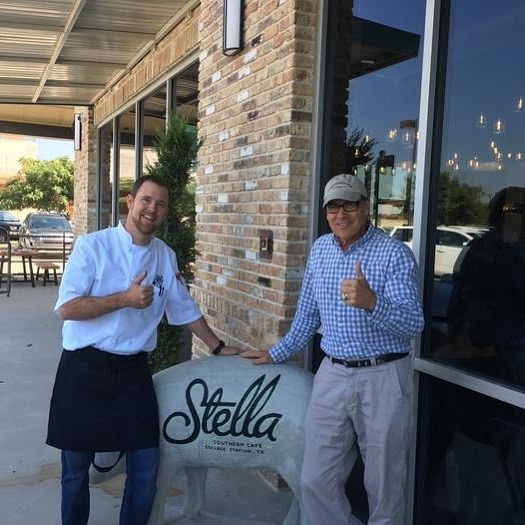 Stella's biscuit greatness. Thanks for stopping by Gov. Rick Perry! #hydrationnation #knowbetterdobetter