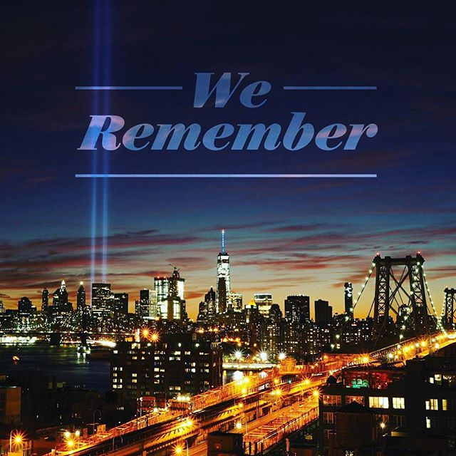 Today we remember the lives lost and how we came together as a country.  No one that woke up that morning expected the devastation that was to unfold.  We must never stop being there for each other.  Do you remember where you were when it happened?  #knowbetterdobetter