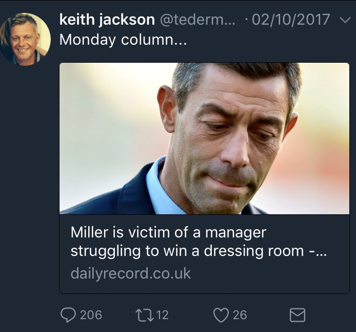 You've made that up too Keith!