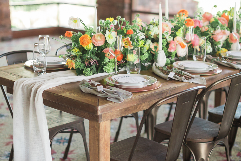 Whimsical Modern Wedding Inspiration in Copper and Marble - Red Rock Country Club