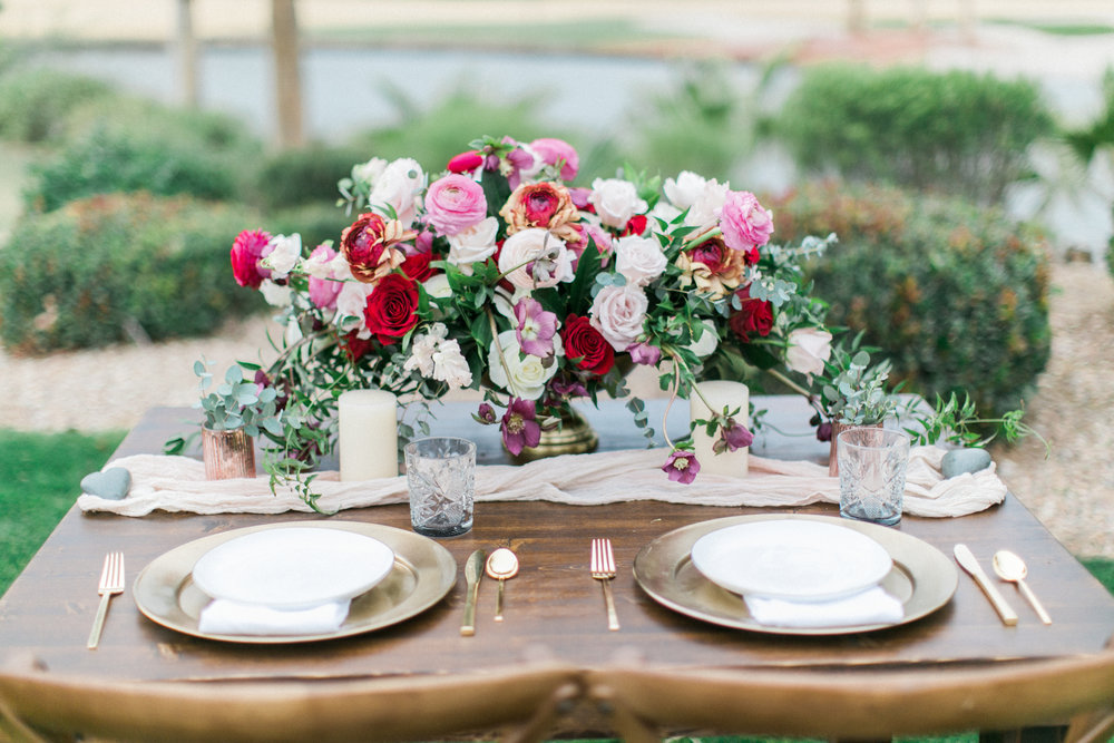 Valentine's inspired shoot - Red Rock Country Club