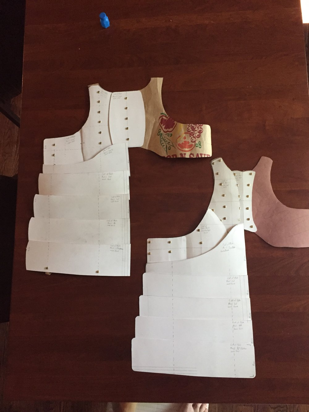 patterns for the new cuirass.