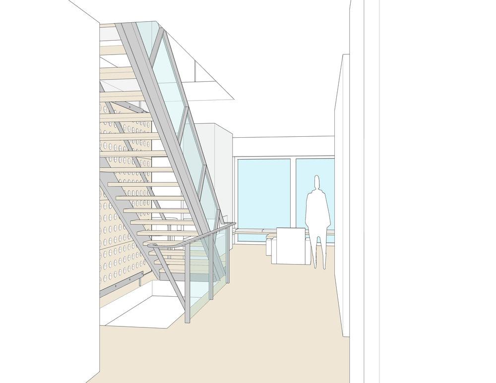 Interior perspective — entrance