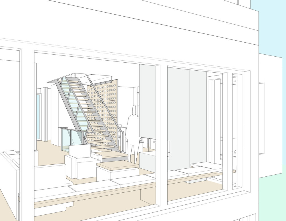 Interior perspective — living room