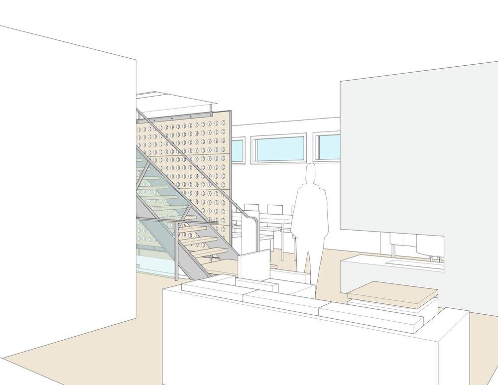 Interior perspective — Kitchen