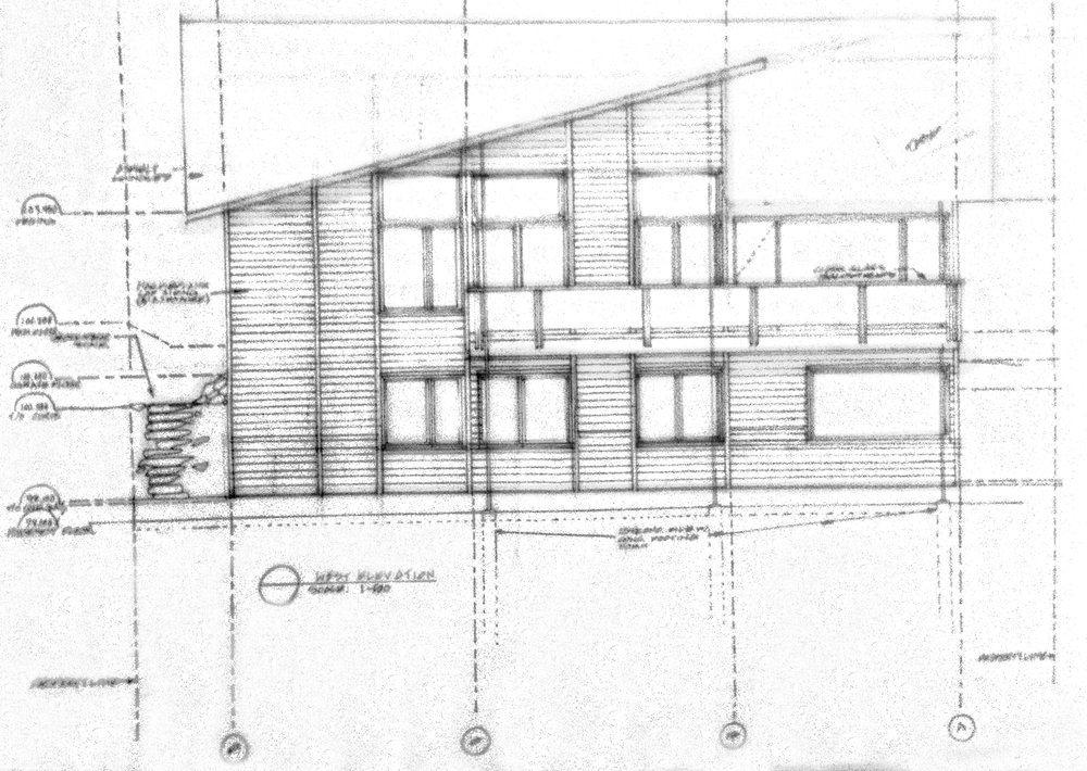 Hand-drafted elevations (1/3)