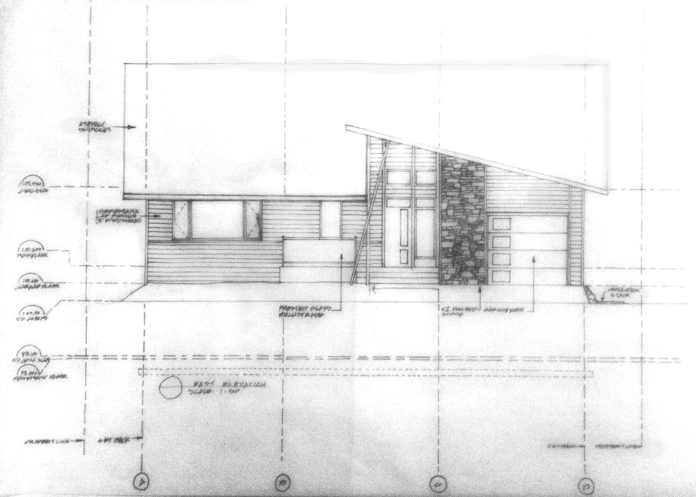 Hand-drafted elevations (3/3)
