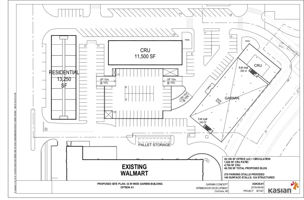 Site layout + parking