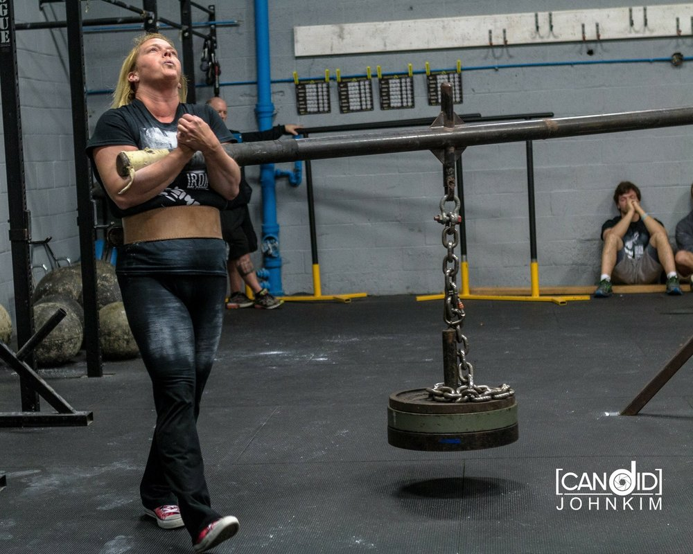 Lauren McMillan doing her first ever Strongman competition. She has went on to win 2 of her four contest.