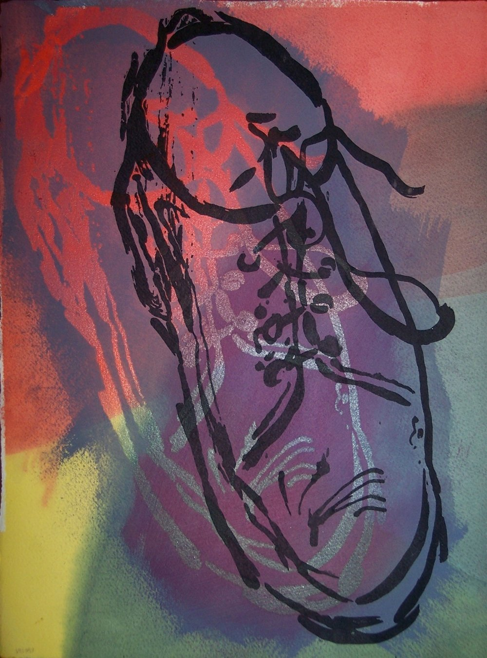 Varied Edition Serigraph & Dyed Paper