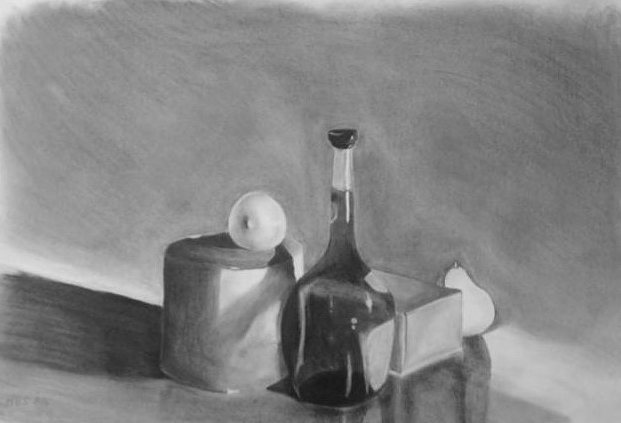 "Perspective Drawing  Reflection, Value Study  22.5"" x 30"""