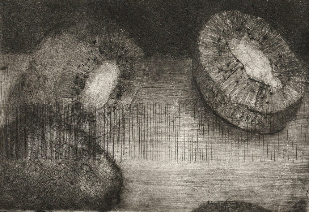 "Drypoint and Engraving     6"" x 9"""