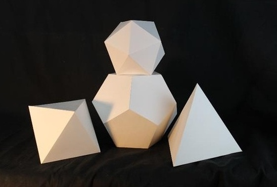 "Geometric Shapes    Cardboard    18"" x 8"" x 11"""