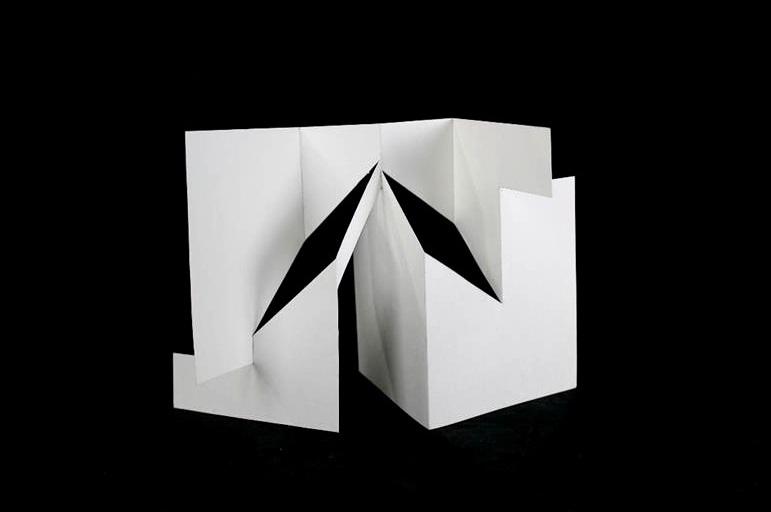"Geometric Line Design    Cardboard   9"" x 4"" x 6"""