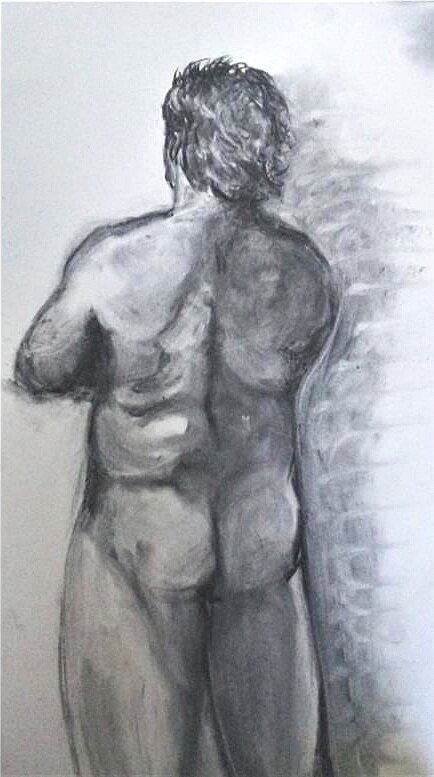 "Figure Session Drawing    Timed   Charcoal   24"" x 18"""