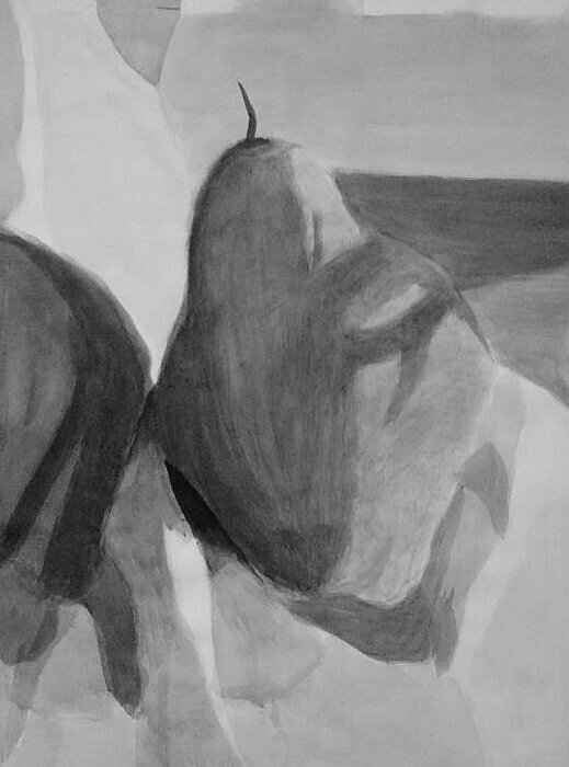 "Still Life  Ink Wash  24"" x 18"""