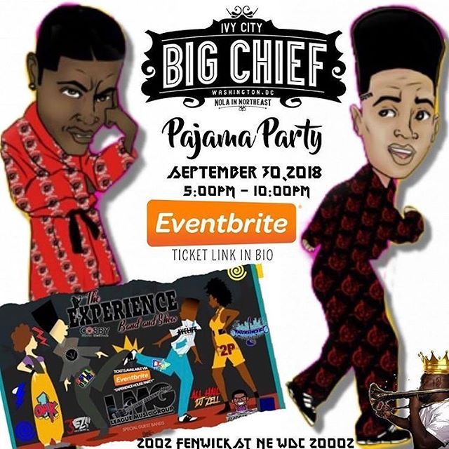 It's Gonna Be An Extravaganza! Meet us @bigchiefdc Tonight at 5pm - vendors, drink specials, a live Band & more... details on flyer