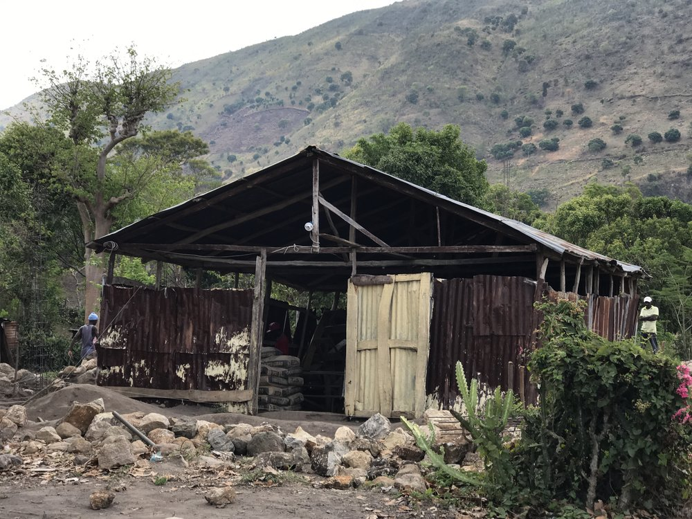 The church in Terre Neuve, Haiti in May 2017. Built from repurposed materials by Pastor Simon and the church attenders.
