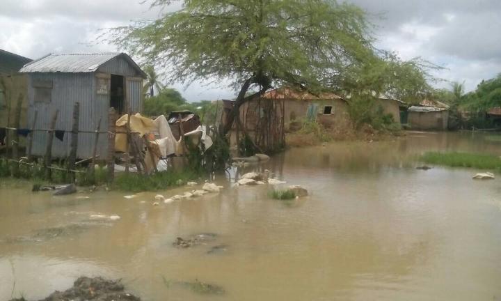 Consistent rain throughout September have made the entire region surrounding Drouin,Haiti mostly inaccessible. (picture   taken   9.21.17)