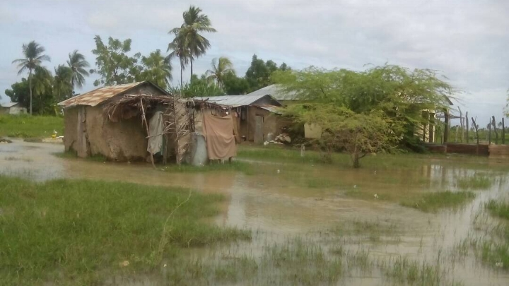 With standing water throughout the village, latrines overflow causing major sanitation and health concerns.  (picture   taken   9.21.17)