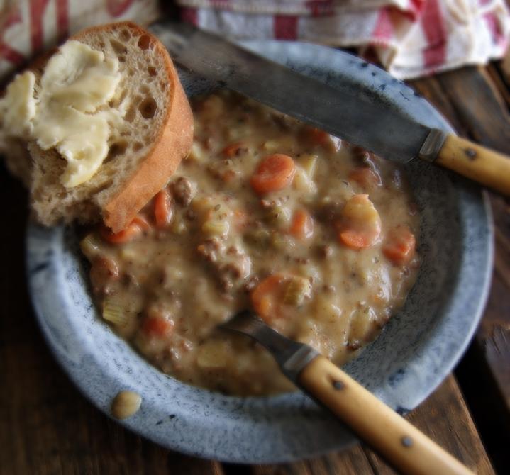 Cheddar Cheeseburger Soup