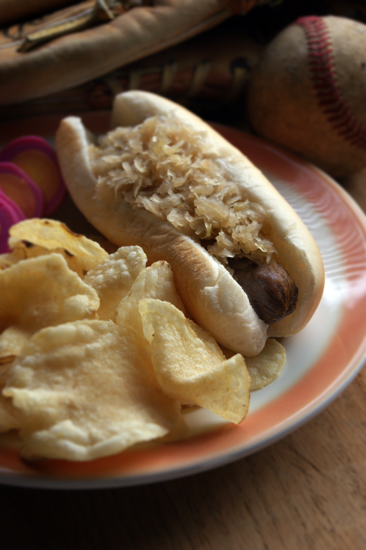 Hot Dog with Sauerkraut