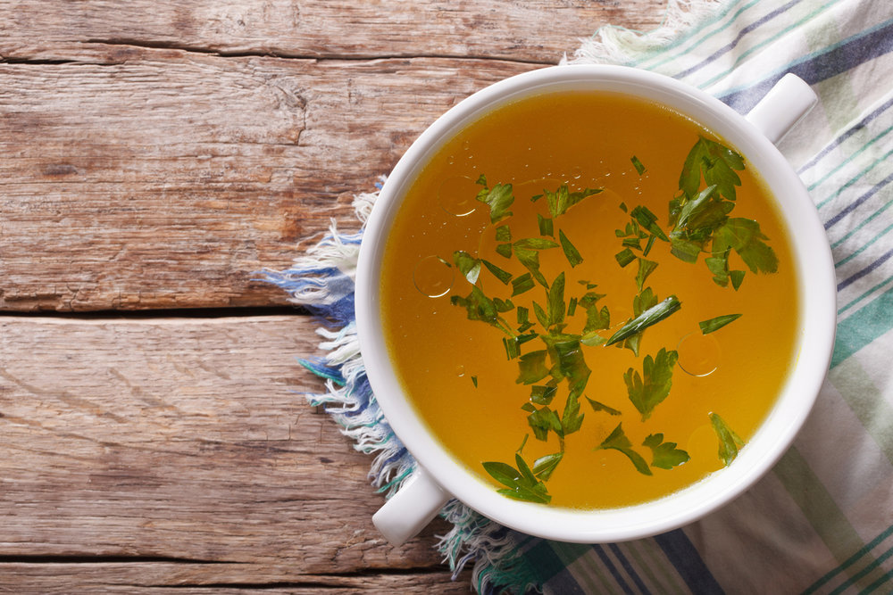 Bone broths  are extraordinarily rich in nutrients – particularly minerals and amino acids. Bone broths are easy to prepare at home, very inexpensive (the cost of bones is usually under $3/lb), and are very convenient and simple to make.