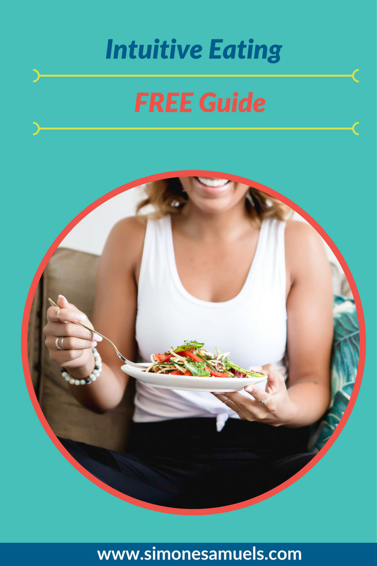 The free printable Intuitive Eating Guide to transform your relationship with food for good