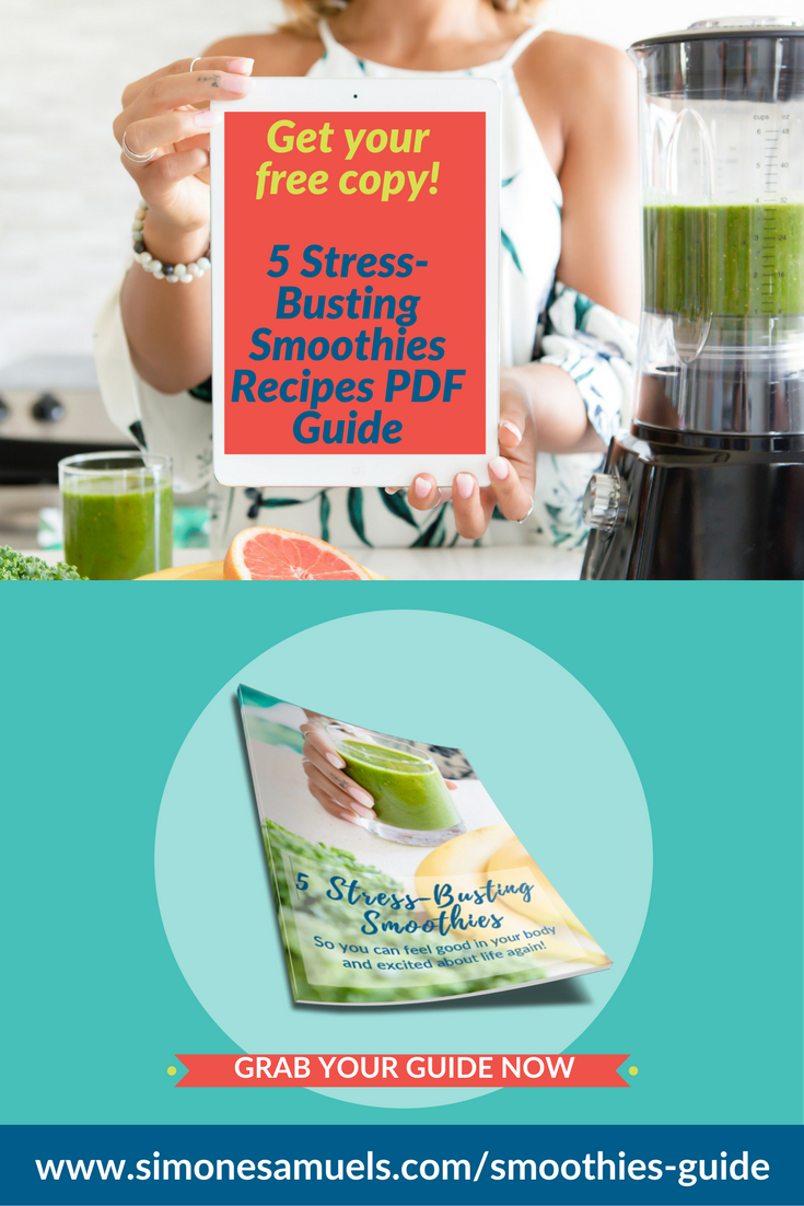 Downloadable PDF Stress-Busting Smoothies Guide