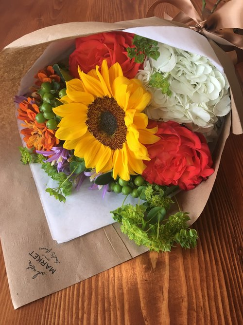 Wrapped Bouquet — Ad Astra Market Food and Flowers | Florist ...