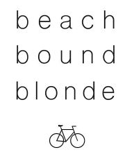 Beach Bound Blonde