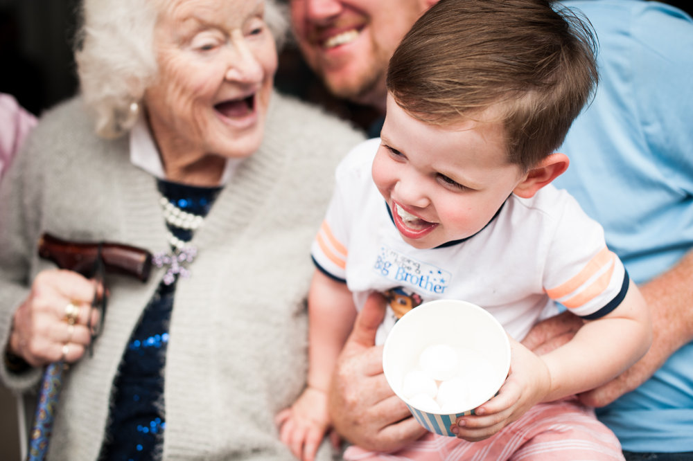 laughing with great grandma