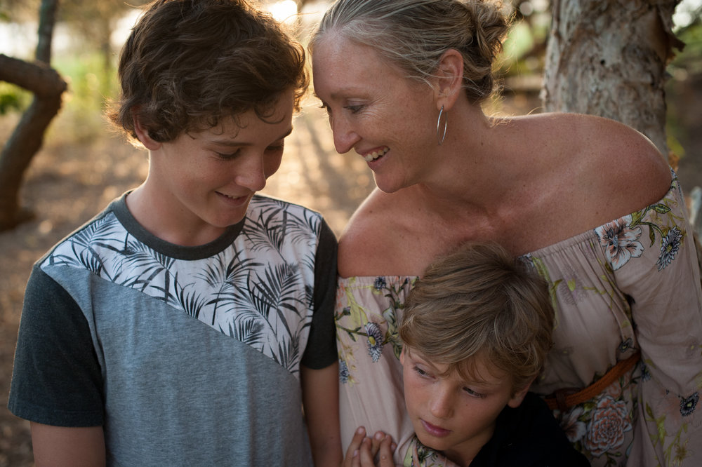 central coast family photographer mother and sons