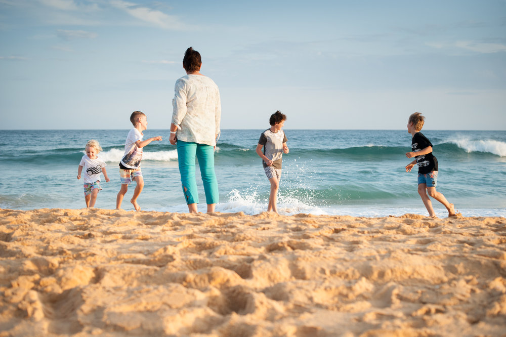 central coast family photographer running towards grandma
