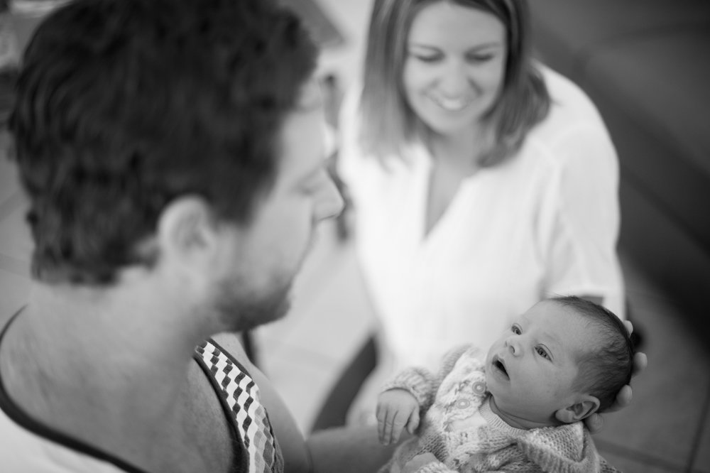 proud parents of a newborn