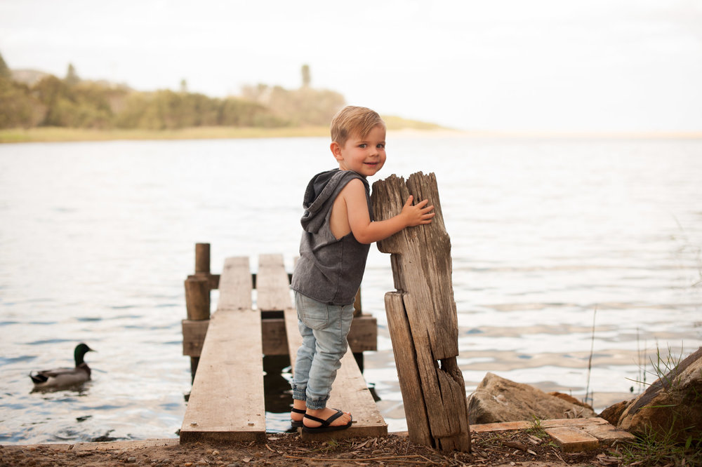 relaxed toddler lake photography macmasters beach nsw