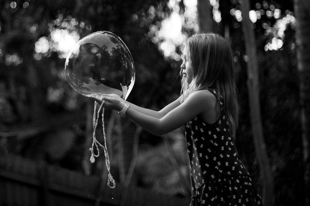 giant bubbles golden light professional photography central coast nsw