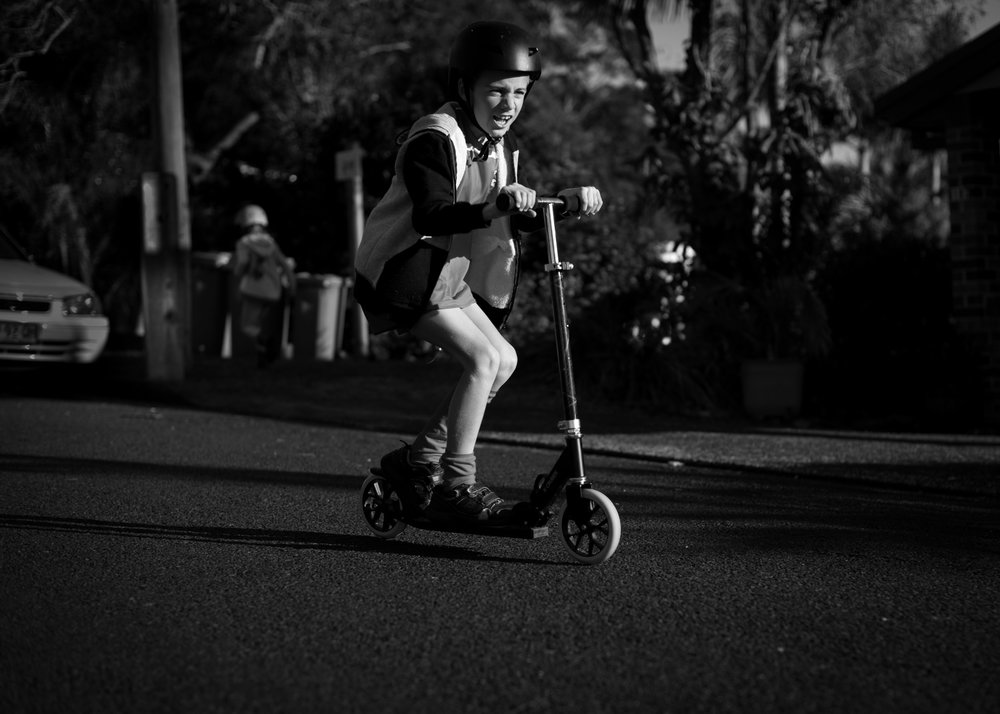 scooter riding lifestyle family photographer copacabana nsw