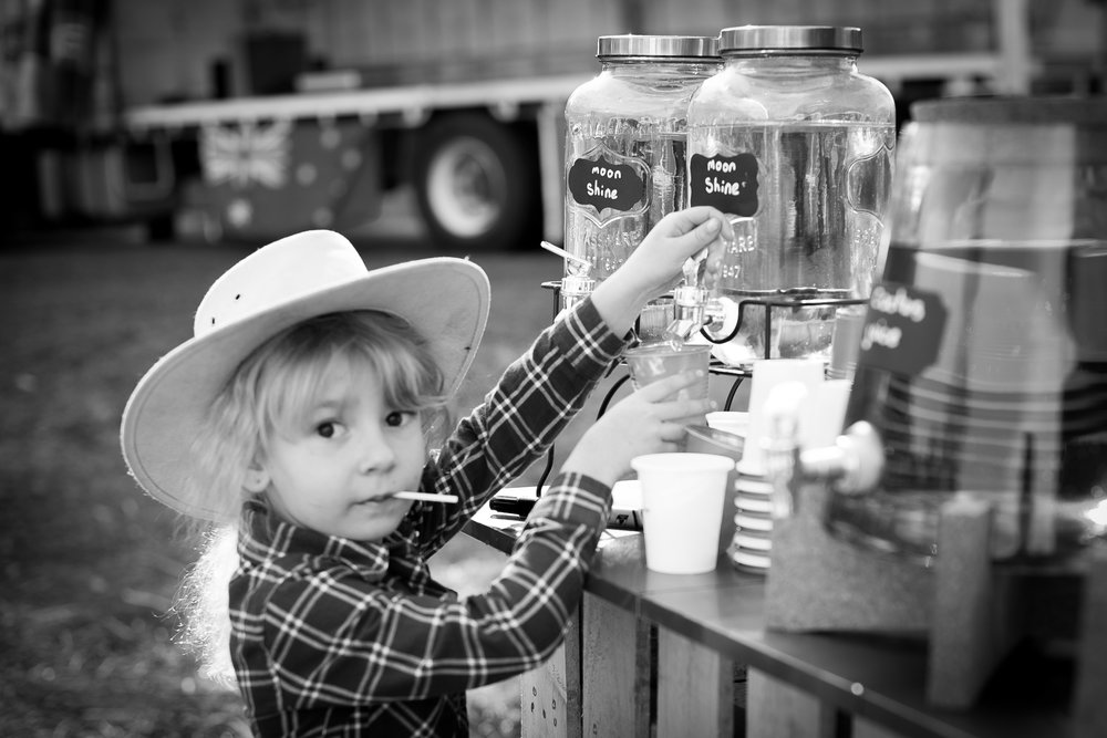 kids drinking moonshine cowboy birthday party Kincumber Photographer