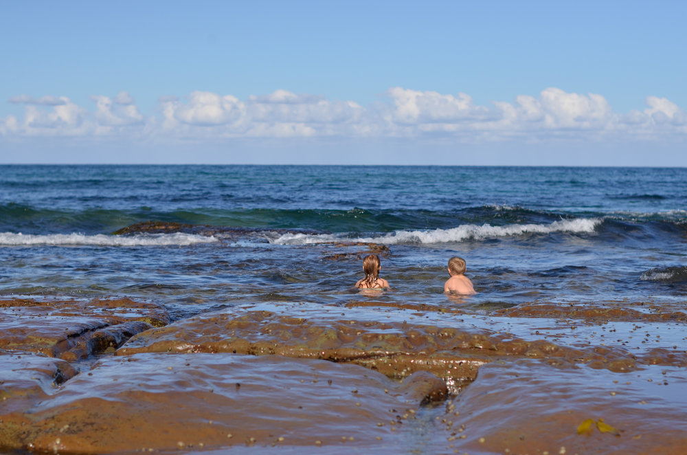 Swimming at Little Beach Bouddi National Park