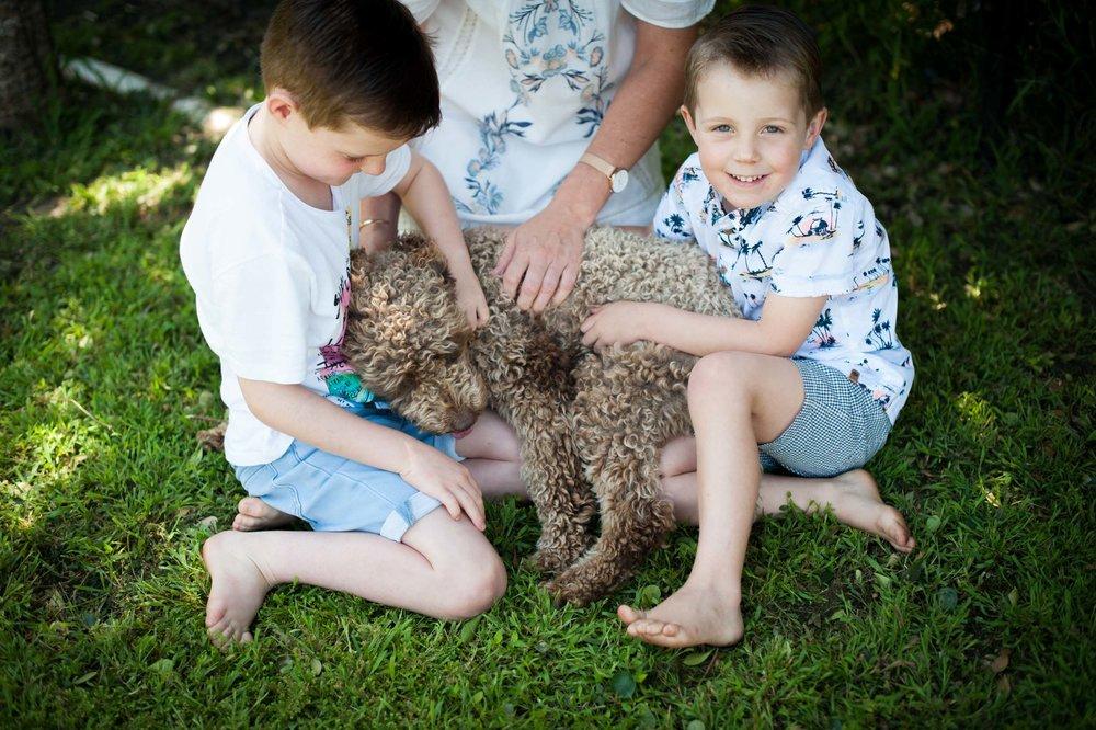 family pet photographer central coast
