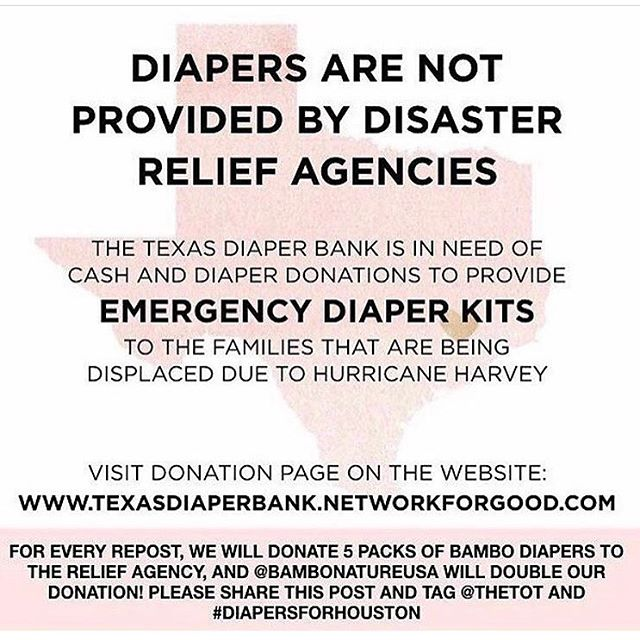 Im breaking away from our regular post to shed light on the need of those affected by hurricane Harvey in Texas. We all can contribute a little to make a big difference. 💜