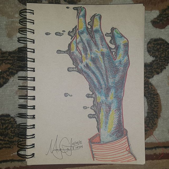 Trying out a new style. Thoughts?  30 minute hand study. - pencil - gel pen - sharpie  #hand #art #sketch #study #drawing