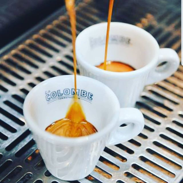 Let our daily grind help you get through your daily grind...proudly serving a full @lacolombecoffee espresso menu at @cookiedoughandco @westfieldmontgomery. #espressoshot #espresso #coffeeshop #montgomerycounty #humpday