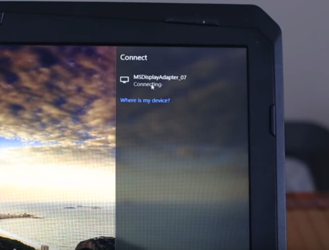 Just access the Miracast function and connect